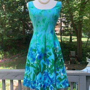 NINE WEST Floral Midi Dress